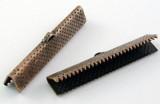 Koncovka krokodýl 35x8 mm, 2 ks - měděná