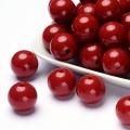 Zvětšit fotografii - Akryl. korálky sytá, 20 mm, 10 ks - červená