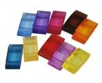 Zvětšit fotografii - Akrylový obdélník transparentní 20 ks - mix barev
