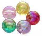 Akrylové korálky duha 8 mm, 50 ks - mix barev