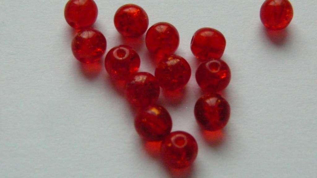 Korálky kuličky 100 ks - červené
