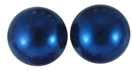 Voskované akrylové perly koule 3 mm, 200 ks - modrá