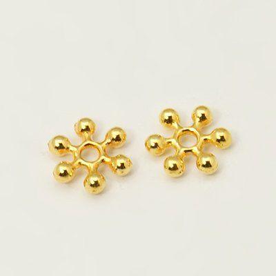 Květ s rameny 100 ks -zlatá barva