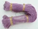 Voskovaná šnůra 1 m - fialová