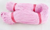 Voskovaná šnůra 10 m - růžová