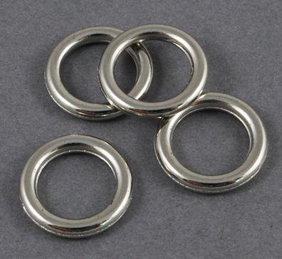 Akryl. kroužek 20 ks - platina