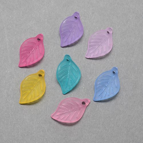 Akrylové lístečky matné 50 ks- mix barev