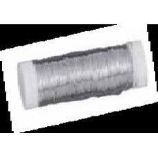 Drát stříbrný, měděné jádro 0,3mm, 10x50 m