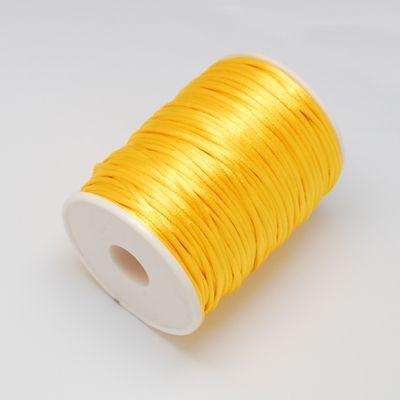 Nylonová šnůra 2 mm, 1 m - žlutá