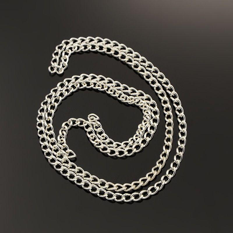 Řetízek střední jemný 10 m -stříbrná barva
