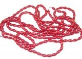 Rýže 154 ks na šňůrce - barva červená