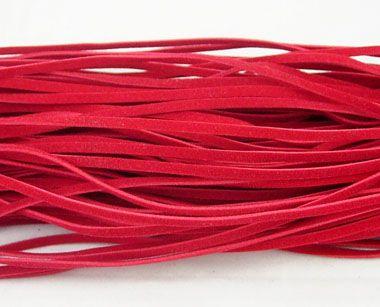 Vlněná šnůra 1 ks - červená