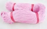 Voskovaná šnůra 1 m - růžová