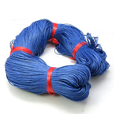 Voskovaná šnůra 10 m - modrá