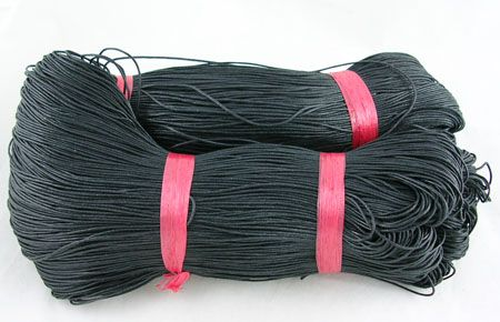 Voskovaná šnůra min 80 m - černá