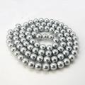 Voskované perly skleněné, koule 4 mm, 100 ks - stříbrná